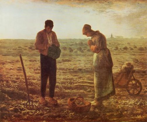 The Angelus painting by Millet